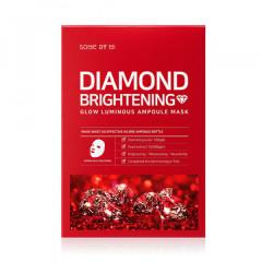 Набор: Осветляющая ампульная маска с алмазной пудрой SOME BY MI Diamond Brightening Calming Glow Lum