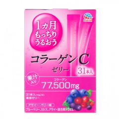 Японский питьевой коллаген в форме желе со вкусом лесным ягод Earth Collagen C Jelly 310g (на 31 ден