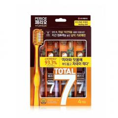 Набор: Perioe LG Зубная щетка Total 7 мягкая щетина, 4 шт