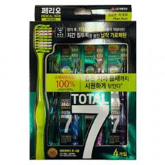 Набор: Perioe LG Зубная щетка Total 7 освежающая, 4 шт
