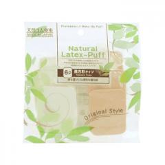 Спонжи для макияжа Ishihara Natural Latex Cosmetic Sponge Professional Rectangular, 6шт
