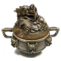 """Курительница бронзовая """"Дракон"""" (9,5х10х8 см)"""