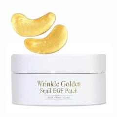 Гидрогелевые патчи под глаза с золотом и муцином улитки The Skin House Wrinkle Golden Snail EGF patc