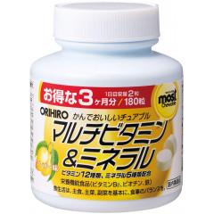 Orihiro мультивитамины и минералы, 180 таблеток