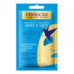Выравнивающая тон тканевая маска для лица с ласточкиным гнездом PERFECTA Bird s Nest Asiatic Sheet F