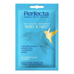 Лифтинг-маска для лица, шеи и зоны декольте с ласточкиным гнездом PERFECTA Bird s Nest Asiatic Face