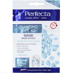 Маска для лица и кожи вокруг глаз с микрокристаллами бриллианта PERFECTA Diamond Lift 4D Mask and Un