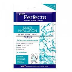 Увлажняющая мезо-маска для лица, шеи и декольте PERFECTA Multi Hyaluron Moisturising Meso-Mask 2x5ml