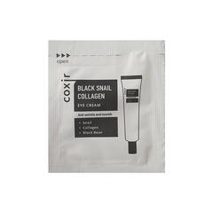 Пробник Антивозрастной крем для кожи вокруг глаз с муцином черной улитки и коллагеном Coxir Black Sn