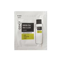 Пробник Очищающий тонер для лица Coxir Greentea BHA Clear Toner Pouch, 2 мл