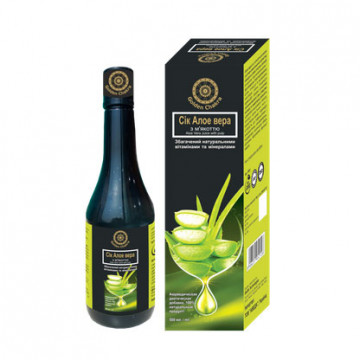 Алоэ Вера сок с мякотью Обогащённый натуральными витаминами и минералами Golden Chakra, 500 мл