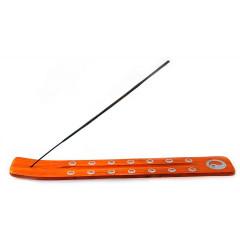 """Подставка под благовония """"Инь Янь"""" деревянная оранжевая (27х3,5х0,5 см)"""