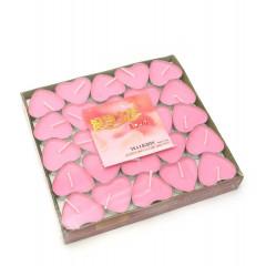 "Свечи ""Сердечки"" розовые (набор 50 штук)(17х16х2 см)"