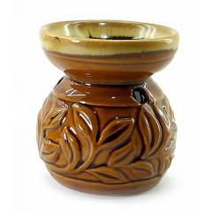 Аромалампа керамичеcкая коричневая (8х7х7 см)