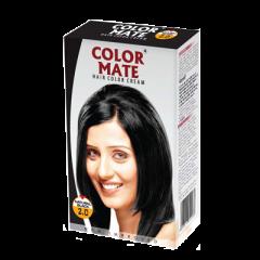 Крем-краска для волос Color Mate Hair Color Cream, Натуральный черный, 130мл