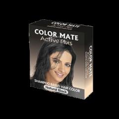 Краска-шампунь для волос Color Mate Active Plus, Натуральный черный, 9г