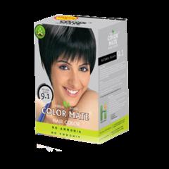 Краска для волос на основе хны Color Mate Hair Color, Натуральный черный, 75г