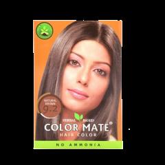 Краска для волос на основе хны Color Mate Hair Color, Натуральный коричневый, 75г