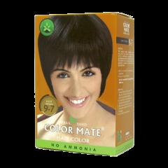Краска для волос на основе хны Color Mate Hair Color, Светло-коричневый, 75г