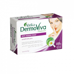 Антивозрастное мыло Vatika DermoViva Naturals Anti Ageing, 125 г