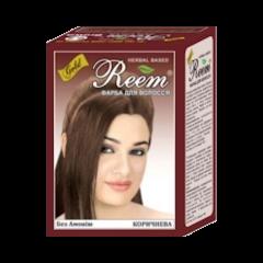 Натуральная краска на основе хны для окрашивания волос Reem Gold, Коричневая, 60г