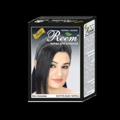 Натуральная краска на основе хны для окрашивания волос Reem Gold, Натуральный черный, 60г