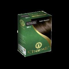 Краска для волос Chandi, серия органик, Темно-коричневый, 100г