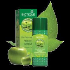 Шампунь-кондиционер для жирных волос Био Зеленое Яблоко Biotique, 190мл