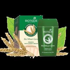 Питательный и укрепляющий крем для лица и тела Био Зародыши Пшеницы Biotique, 175г