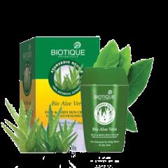 Солнцезащитный питательный крем для лица и тела SPF 30 Био Алоэ Вера Biotique, 175г