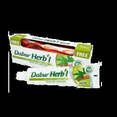 Аюрведическая зубная паста Ним с щеткой в подарок Dabur Herbal Toothpaste Neem, 150 мл