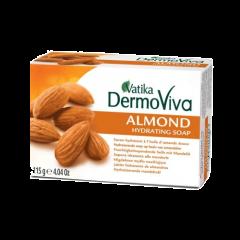 Увлажняющее мыло с миндалем Vatika DermoViva Almond Hydrating Soap, 115 г