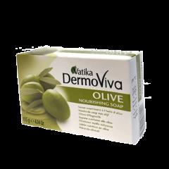 Мыло с экстрактом оливы Vatika DermoViva Оlive, 115г