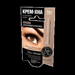 Краска для бровей и ресниц Крем-хна Черный цвет, Fitokosmetik, 10г