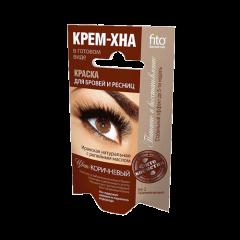 Краска для бровей и ресниц Крем-хна Коричневый цвет, Fitokosmetik, 10г