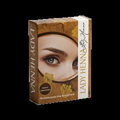 Хна для окрашивания бровей Lady Henna Светло-коричневая, 10г