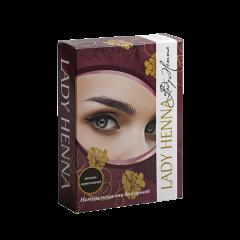 Хна для окрашивания бровей Lady Henna Темно-коричневая, 10г