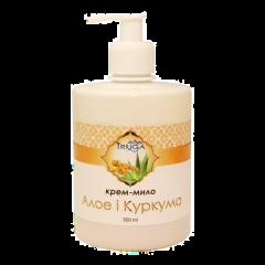 Аюрведическое крем-мыло Алоэ и Куркума Triuga, 500 г