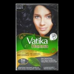 Краска для волос на основе хны Глубокий черный Dabur Vatika Deep Black, 6*10г (шт.)