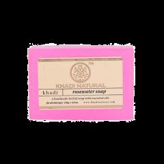 Аюрведическое Мыло с розовой водой на глицериновой основе, 100% натуральное KHADI, 125 г