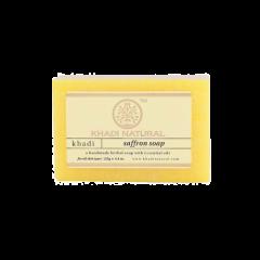 Аюрведическое Шафрановое Мыло на глицериновой основе, 100% натуральное KHADI, 125 г