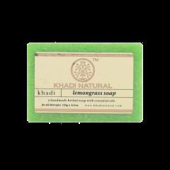 Аюрведическое Мыло Лемонграсс на глицериновой основе, 100% натуральное KHADI, 125 г