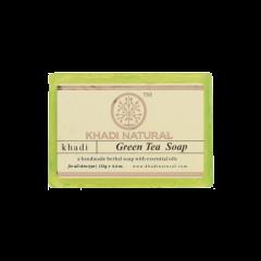 Аюрведическое Мыло Зеленый чай на глицериновой основе, 100% натуральное KHADI, 125 г