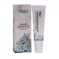 Защитный бальзам для губ с Кокосовым нектаром и Миндалем Aasha, 10г