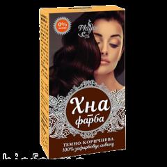 Хна-краска для волос на основе хны темно-коричневая Mayur, 25г
