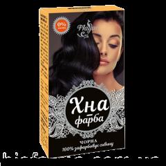 Хна-краска для волос на основе хны черная Mayur, 25г