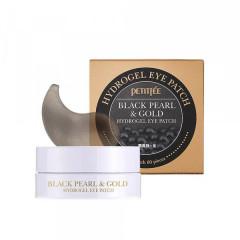 Гидрогелевые патчи для глаз с золотом и черным жемчугом PETITFEE Black Pearl & Gold Hydrogel