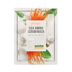 Маска для лица с протеинами шелка PETITFEE Silk Amino Serum Mask - 1 шт.