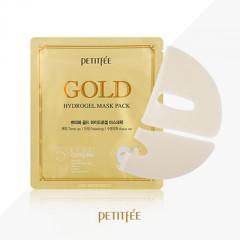 Гидрогелевая маска для лица с золотым комплексом +5 PETITFEE Gold Hydrogel Mask Pack +5 golden compl
