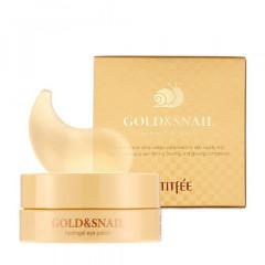 Гидрогелевые патчи для глаз с золотом и улиткой PETITFEE Gold & Snail Hydrogel Eye Patch, 60